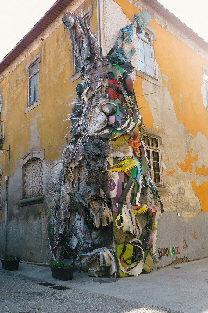 half rabbit street art oporto