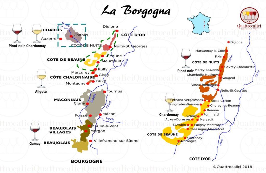 Dove fare degustazioni in Borgogna